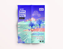 NPWS NYE - Shark Island Party campaign design