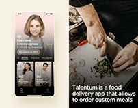 Talentum - Food marketplace Mobile App | UI/UX