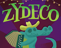 Zydeco Concert Poster