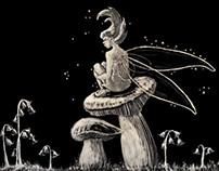 Scratchboard fairy