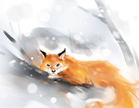 Speed paint_ Red fox