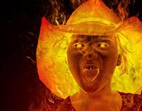 Naomi on fire