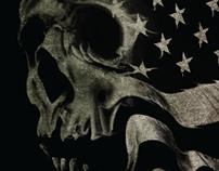 American Skull Illustration
