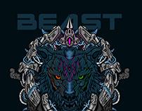 Beast, vector illustration