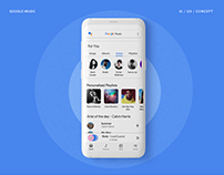Google Music Redesign | UI/UX