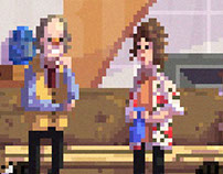 Frasier pixel art scene - Frasier's apt. - WIP