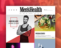 Men's Health Website Redesign
