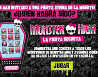 La fiesta secreta de Monster High | HTML5 Game