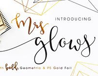 MrsGlows Font Family with Extras