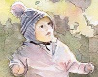 Self-Promotion Watercolor Illustration