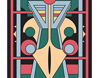 Pavo Totem -  Art Deco Peacock Design