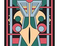 Pavo Totem -  Art Deco Peacock Design