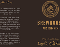 Loyalty Folder for Brehouse & Kitchen