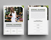 Spring Summer Fashion Event Flyer Template