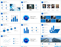27+ Blue Creative infographics annual PowerPoint Templa