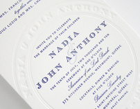 Wedding Invitation - Letterpress