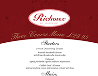 Richoux Summer Menu