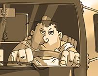 TRUCK DRIVER | COMIC STRIP