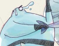 """""""Água neles!"""" Illustrations"""