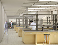 3D Interior Lab rendering