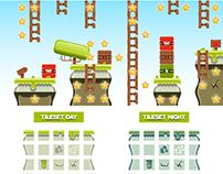 """Platformer Game Tile Set """"Grove"""""""