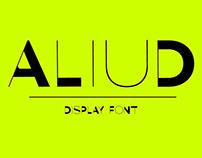 Aliud Display font