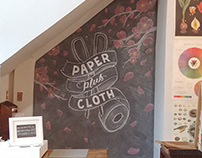 Paper Plus Cloth Chalk Mural