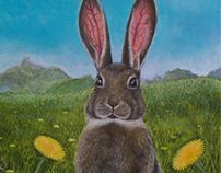 Rabbit Portrait Painting