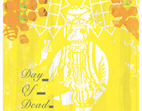 Day of dead poster exhibition in Mexico