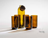 mo-en jug and glass bundles /recycled bottles