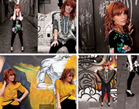 Fashion photography and POS for Shag catalog concept