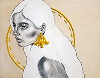 Calla- Original Embroidered Illustration