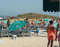 Nissi Beach sea side restaurant movable cooling