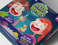 DIY Bath Bombs Packaging design