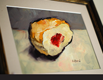 Food painting - oil