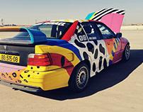 BMW e36 art car