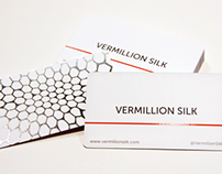 Vermillion Silk Business Cards
