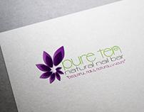 Pure Ten Natural Nail Bar Logo Design