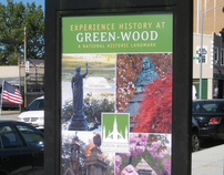 Green-Wood Cemetery: Entrance signage