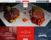 Salsa con Fuego Homepage Design