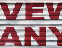 Painted signage on garage doors in NYC