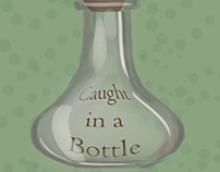 Caught in a Bottle Digital Art Series