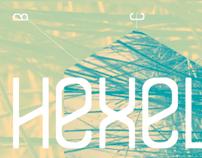 Hexelia typography
