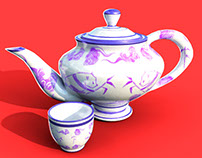 3D chinese teapot