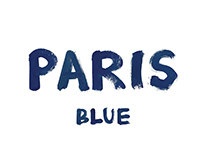 Paris Blue Font