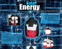Mobile Phones Rechargin Jacket With Solar Energy