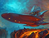 Landing on Lava Planet