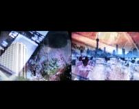 Overlay Film of Honolulu and Shanghai Cityscape