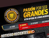 Leones Negros Website