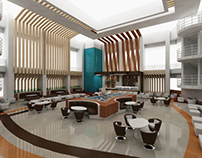 coffee lounge design for canadian university of dubai